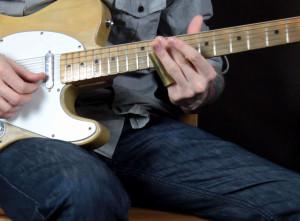 Слайд гитара в стандартном строе в стиле Muddy Waters